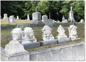 Children's tombstones, epidemic, disease, early death