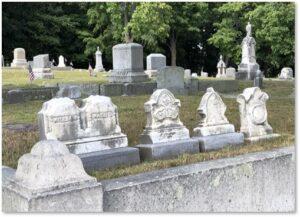 Children's tombstones, epidemic, disease, early death