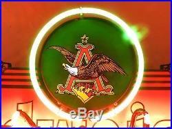 Anheuser-Busch logo, neon, eagle, Boston Garden