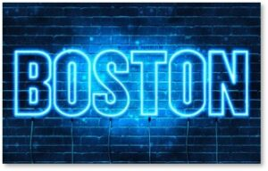 Boston, neon sign
