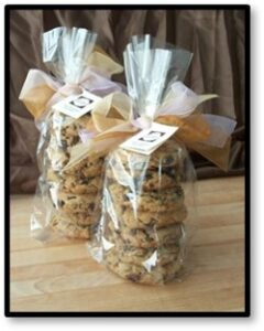cookies, gift-wrapped,