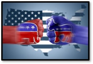 Divisive Politics, Democrats, Republicans, opposition, disagreement