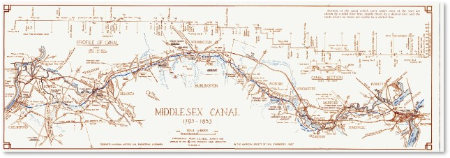 Middlesex Canal Map