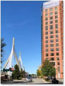 Lovejoy Wharf, Harbor Walk, Charles River Dam, Zakim Bridge