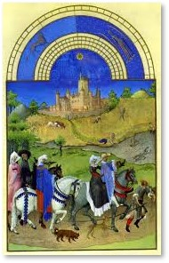 Tres Riches Heures du Duc de Berry, Medieval manuscript, illustration