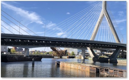Zakim Bridge, Harborwalk, Charles River, Gridley Locks