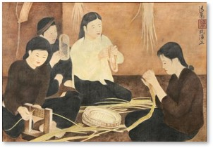 basket weaving, Nguyen PhanChanh