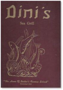 Dini's Sea Grill, Tremont Street, Boston, Giovanni Dini, Joseph Dini