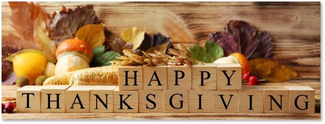Happy thanksgiving, wood blocks, tiny table, no-travel