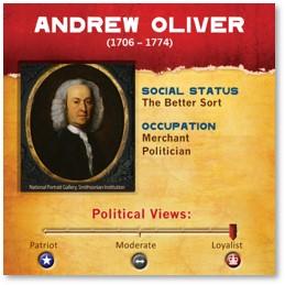 Andrew Oliver, Lieutenant Governor, Massachusetts Bay Colony, Loyalist, Tory