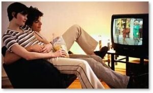Couple watching TV, pandemic, watchlist, Version 6