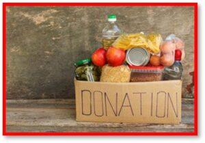 Food donation, food drive, food pantry, sharing, generosity