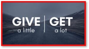Give a little, Get a lot, Generosity, sharing, food insecurity