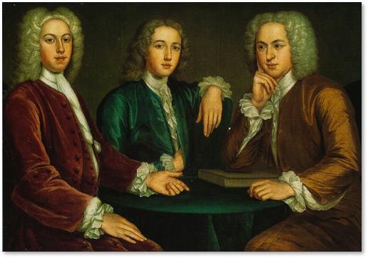 Daniel Peter and Andrew Oliver, John Smibert, MFA, Boston Museum of Fine Arts, group portrait