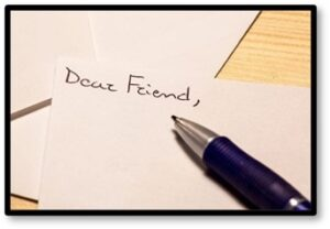 Dear Friend, Pen Pals, Friendship, note cards