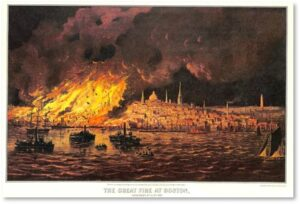 Great Fire of 1872, Boston, Financial District