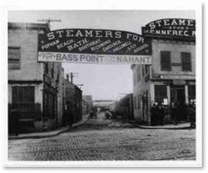 Lincoln Wharf, steamships, Bass Rocks, Nahant, immigration, Canadian maritime provinces