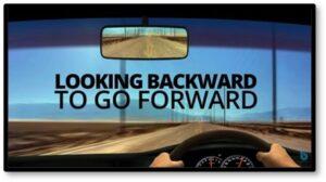 Looking backward to go forward, rear-view mirror, 2021, New Year