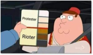 Rioter-Protester Scale, riot, protest, news media, words have meaning