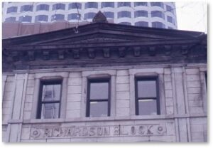 Richardson Block, High Street, Pearl Street, William G. Preston, Neo-Greek architecture, Jeffrey Richardson