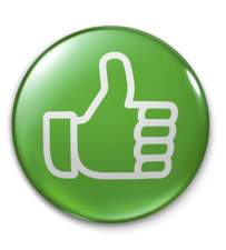 Thumps up, positive review