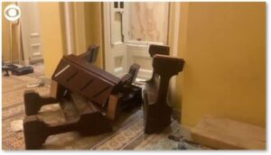 Capitol riot, wrecked furniture, destruction