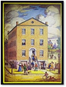 Boston English High School, Temple Street, Derne Street, 1821