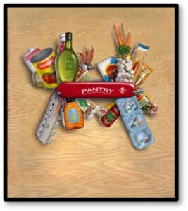 Kitchen Jackknife, Swiss Army Knife, pantry cooking, food