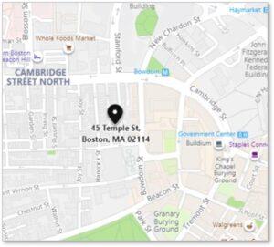 Temple Street, Beacon Hill, Boston, map