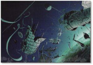 Gravity, orbital satellites, destruction, fly-by, asteroids, meteors, meteorites