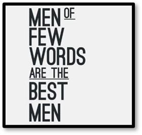 Men of few words are the best men, Dad, Susanne Skinner