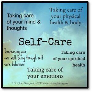 Self care, three levels of self care, Taking care of your emotions, Taking care of your mind and thoughts