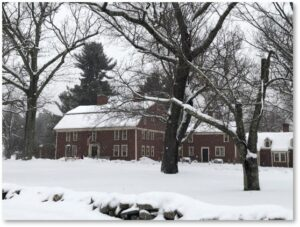 Longfellows Wayside Inn, February 2021, winter, snow
