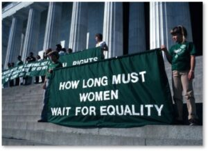 Women's rights protesters, Equal Rights Amendment, E.R.A, Constitution