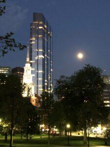 Boston Common, Park Street Church, Millennium Tower, Boston, Haunted Boston