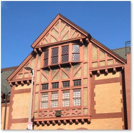 Tudor Revival,, Half-timbering, New Riding Club, Hemenway Street, Boston