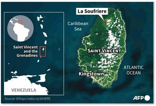 La Soufriere, St Vincent, Caribbean, Volcano, pyroclastic flow