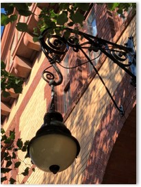 New Riding Club, lantern, wrought iron bracket, New Riding Club, Fenway, Boston