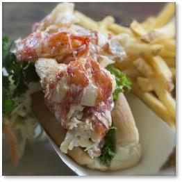 Blue Marlin Grille, lobster roll. Essex, Massachusetts