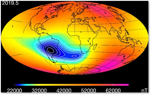South Atlantic Anomaly, Earth, ESA, Swarm