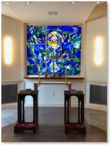 St. Paul's Church, Boston, side chapel, stained glass