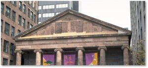 St. Paul's Church, pediment, Greek Revival, Cathedral Church of St. Paul, Solomon Willard, Emperor Agrippa II