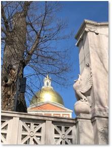 Massachusetts State House, Robert Gould Shaw Memorial, Beacon Hill, Boston, Charles Bulfinch, Paul Revere