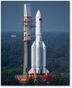 Chinese rocket, booster, orbit, uncontrolled fall