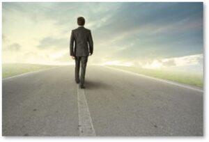 business, employee walking away, negative loop,