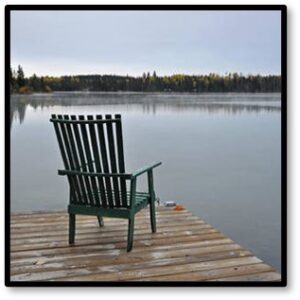 Empty chair, dock, grief, anger, love
