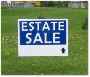 estate sale, downsizing