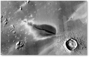 Mars. volcanic deposit, volcano, Elysium Planitia, marquakes