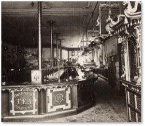 Oriental Tea Company, shop interior, Court Street, Boston