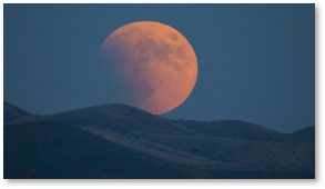 Super blood moon, flower moon, eclipse, full moon, Dragoon Mountains